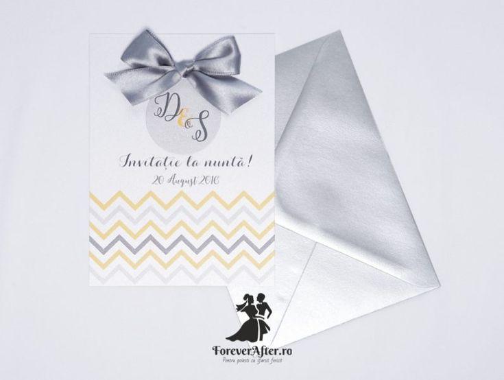 Invitatie de nunta Silver Touch | ForeverAfter.ro