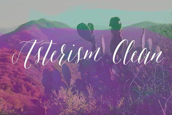 Asterism Clean by Great Lakes Lettering on @creativemarket
