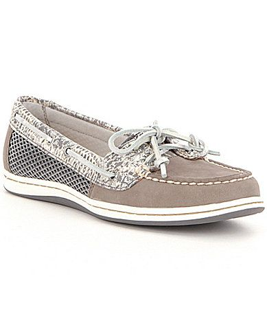 Sperry Firefish Python Printed Leather SlipOn Boat Shoes #Dillards