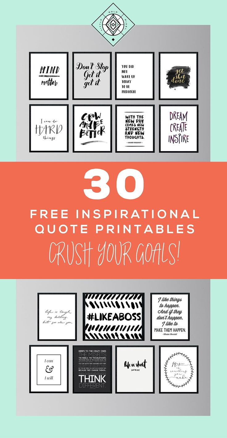 Best 25 free inspirational quotes ideas on pinterest diy 30 free inspirational quotes to help you kill it this year magicingreecefo Choice Image