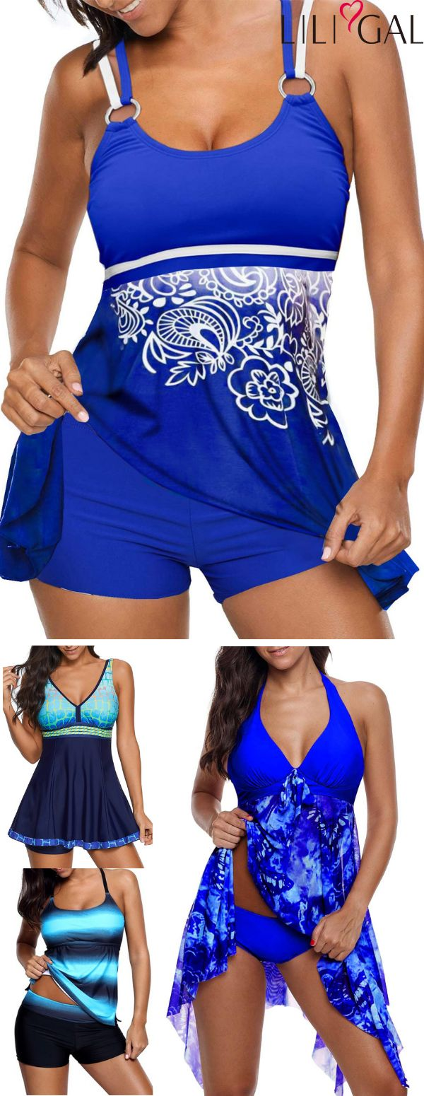 Printed Blue Summer Swimsuits 2019