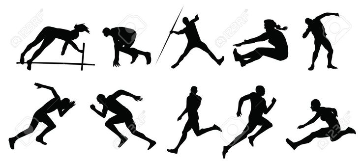 Free download Track And Field Silhouette Clipart for your