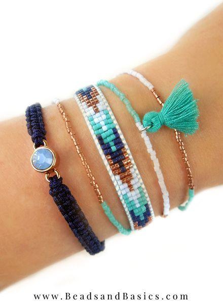 Mooie Blauwe Miyuki Armbandjes Zelf Maken - Beads & Basics | Online Kralen Kopen