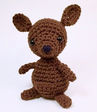 Crochet Kangaroo Pattern, amigurumi, plushy, toy by EmmandSkootch on Etsy