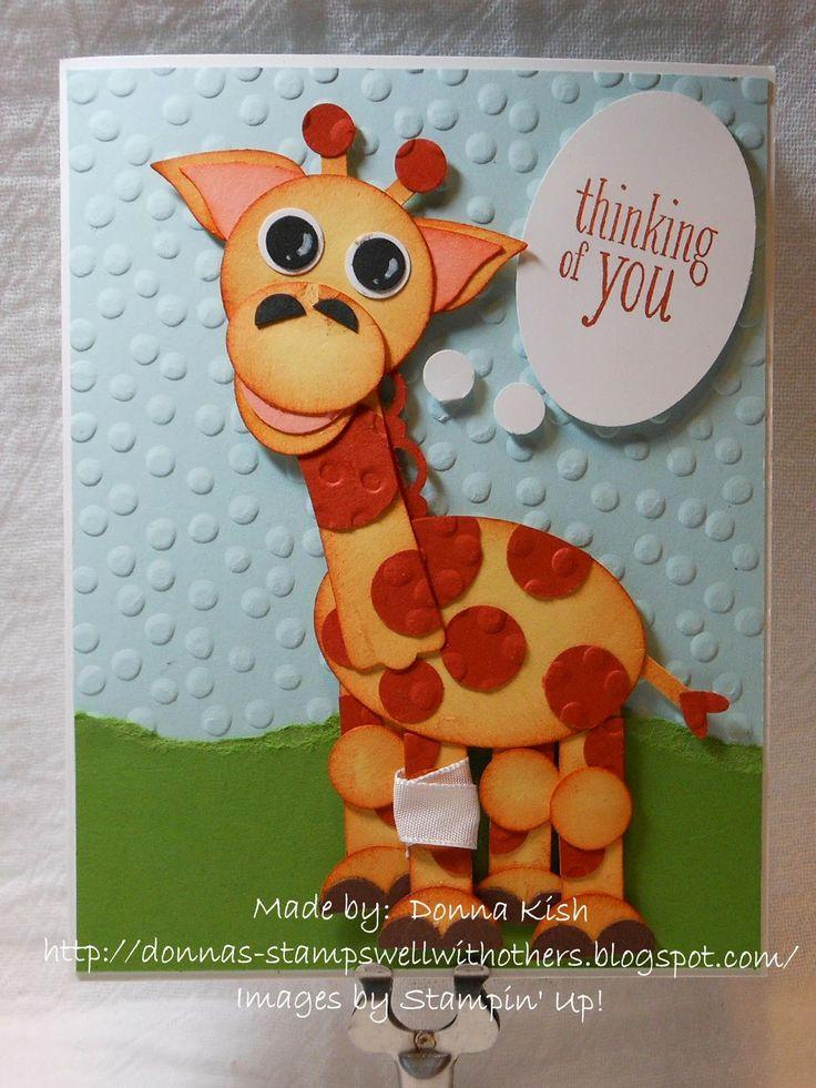 Punch Art Giraffe - Get Well