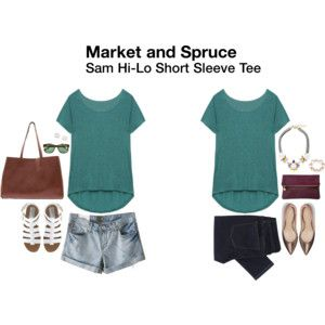 I already have one in grey, I would love this blue color or other colors, so versatile! - Market & Spruce Sam Hi-Lo Short Sleeve Tee