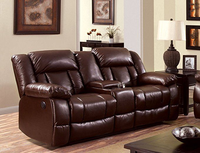 Real Leather Reclining Sofa Mesmerizing Reclining
