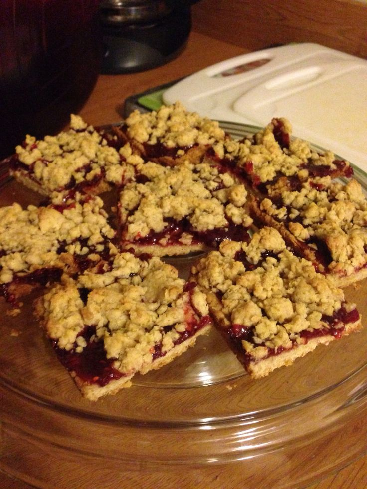 Raspberry Crumble Bars | Made by Me | Pinterest