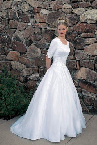 Dresse LDS Modest Wedding Gowns | White Plus Size 18 Bridal Gown ...