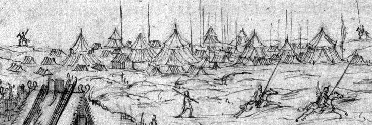 """""""Obóz polski pod Tczewem w 1627 r. Autor (Abraham van Booth) widział go na własne oczy..."""""""