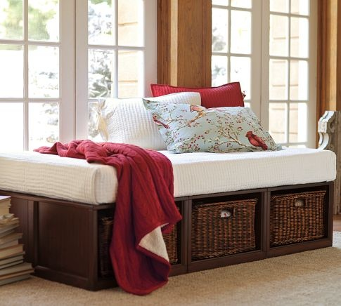 Stratton Daybed With Baskets Tufted Cushion Set