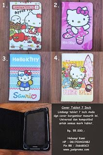 cover case tablet hello kitty lucu :))