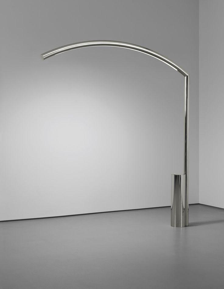 Nanda Vigo :: Chromed Steel 'Golden Gate' Floor Lamp for Arredoluce, c1970