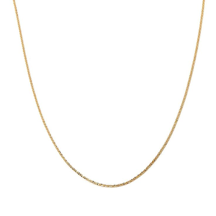 """Passport to Gold 14K Gold 1.5mm Sparkle Chain 20"""" Necklace"""