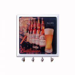 Porta Chaves em Vidro Garrafas Budweiser - Artesanal