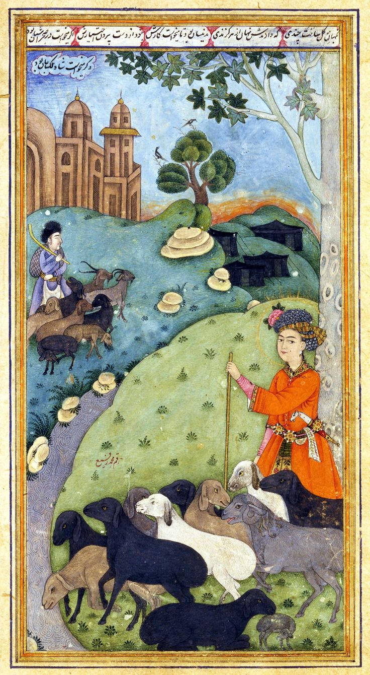 Antique Persian miniature painting