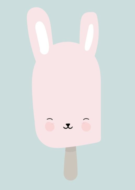 Baby, nursery, art, decor, decorate, decorating, decoration, decorations, bunny, rabbit, ice, cream