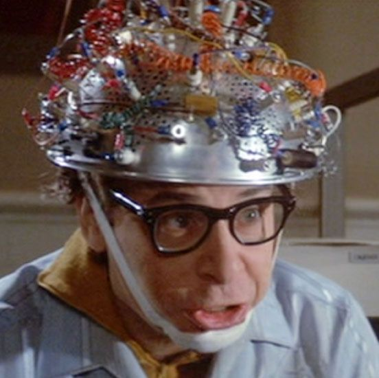 Image result for Colander on the head