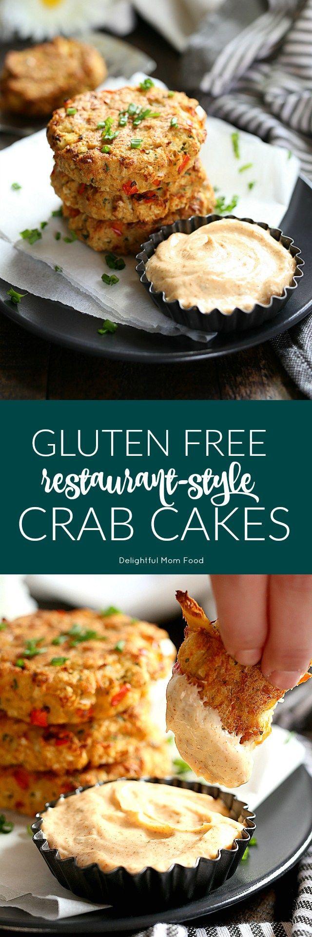 Restaurant Style Gluten Free Crab Cakes Recipe With Spicy Greek Yogurt Sauce