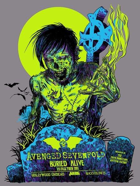 Avenged Sevenfold poster by Vance Kelly