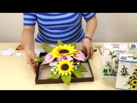 TUTO: Cuadro de Flores Girasoles Alcatraces Decoración Foamy - YouTube