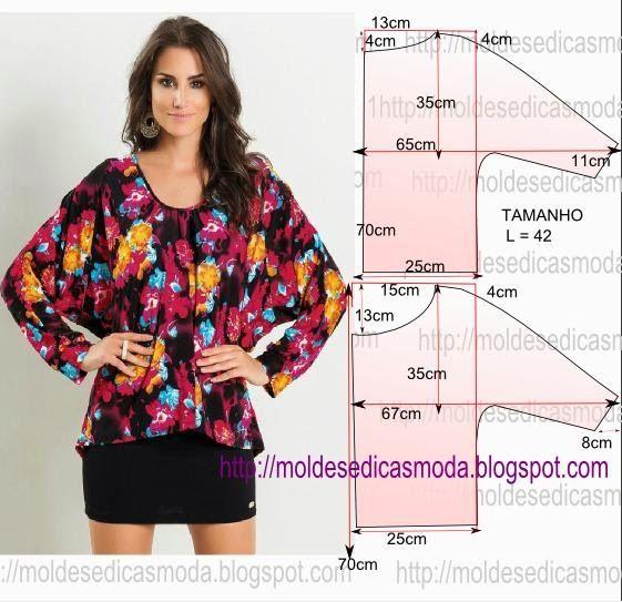 Moldes Moda por Medida: BLUSA FÁCIL DE FAZER - 40