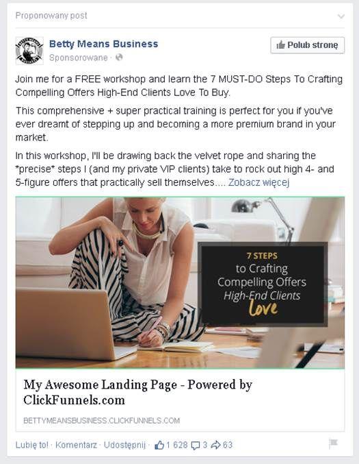 Ciekawa reklama na FB - Facebook Ad