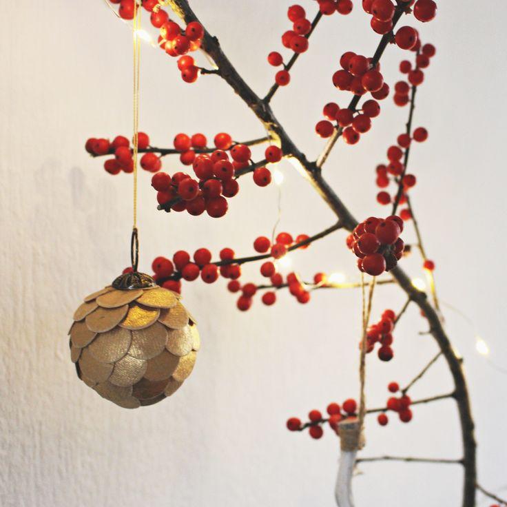 Beeren Zweig / Weihnachtsdekoration
