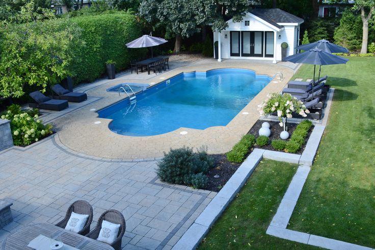 Les 25 meilleures id es concernant am nagement paysager autour de la piscine sur pinterest - Amenagement paysager autour d une terrasse ...