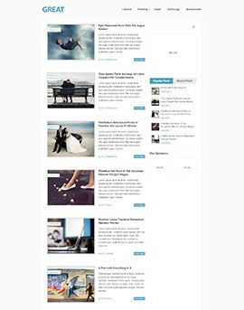 Great Free Wordpress Website Template