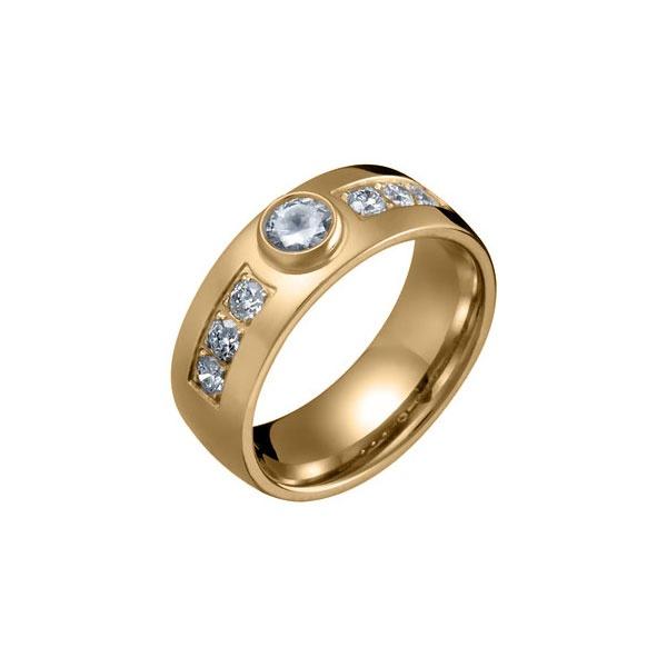 STAR RAIN RING  Designer: Mari Saari  18 carat gold, Diamond 1 x 0,25 + 6 x 0,06 ct or 18K white gold, Diamond 1 x 0,25 + 6 x 0,06 ct