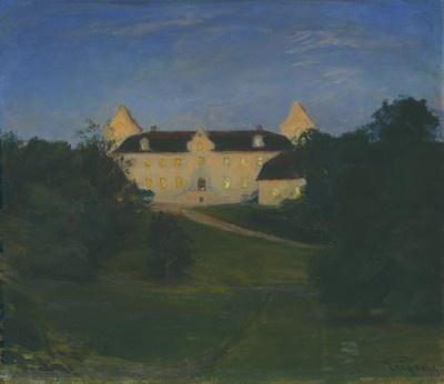 Prince Eugen Napoleon Nicolaus (1865-1947): Glimmande fönster,  1895