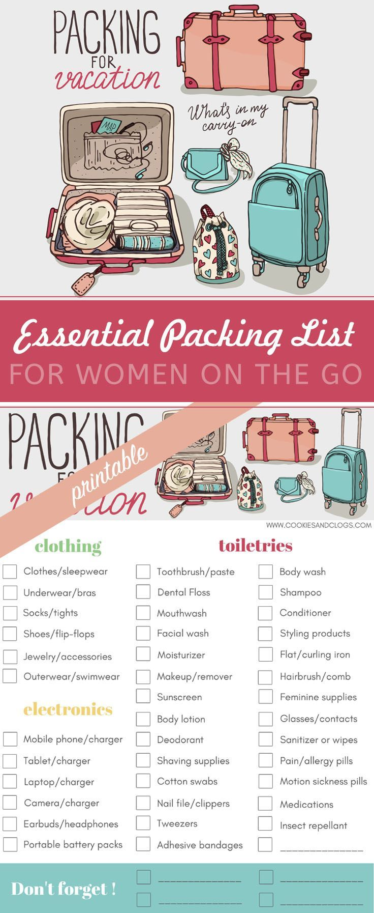 4c80bf6c776 Making Travel Less Stressful  Essential Printable Packing List for Women