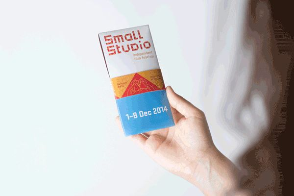 Small Studio - Independent Film Festival Identity by Lua Cortes, via Behance - fold, logo, collateral, brochure, fortune teller, branding