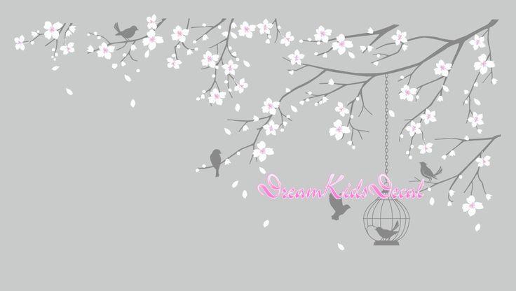 Árbol de pared etiqueta pared pegatina bebé por DreamKidsDecal