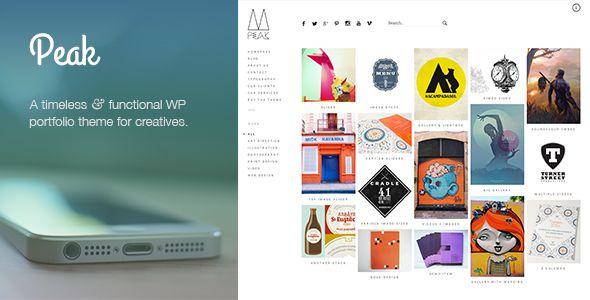 Peak: Retina Responsive WordPress Portfolio Theme - Creative WordPress