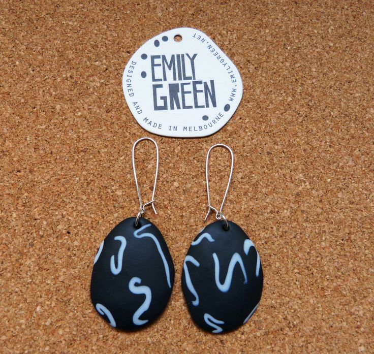 Supermarket / Emily Green - Ebony Drop Earrings Created in conjunction with the exhibition 'Supermarket""