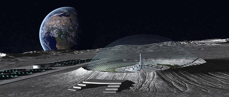 Domed crater | Moon Colonies | Hard science fiction, Space ...