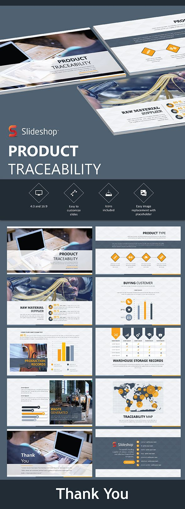 Product Traceability - PowerPoint Templates Presentation Templates Download here: https://graphicriver.net/item/product-traceability/19853570?ref=classicdesignp