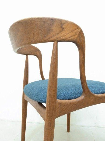 Johannes Andersen Teak Chair For Uldum M 248 Belfabrik 1965