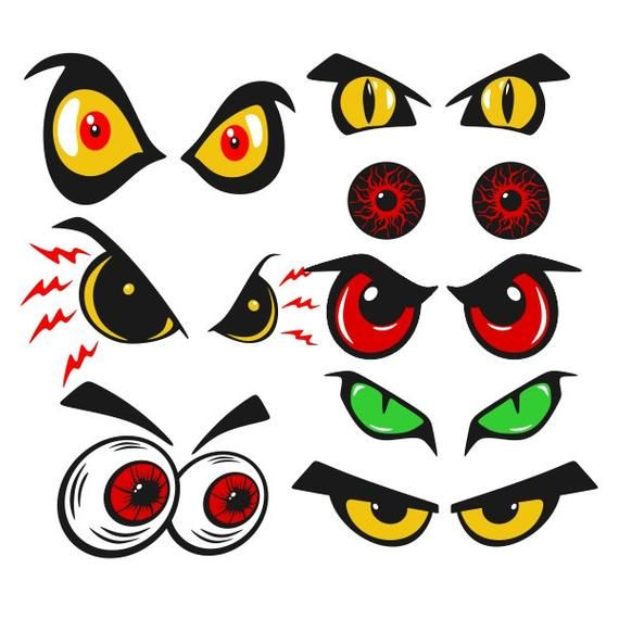 Cartoon Halloween Eyes Cuttable Design Png Dxf Svg Eps File Etsy In 2020 Halloween Eyes Halloween Cartoons Spooky Eyes