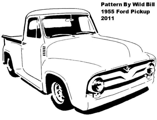 1955 ford f100 truck art