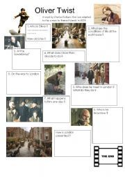 English teaching worksheets: Oliver Twist