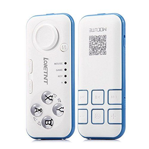 Wireless Bluetooth VR Remote Controller Gamepad Compatible with 3D VR Headset Glasses, Android and PC for Playing 3D VR Games/Handheld Self Stick/Music Player/E-book Flip