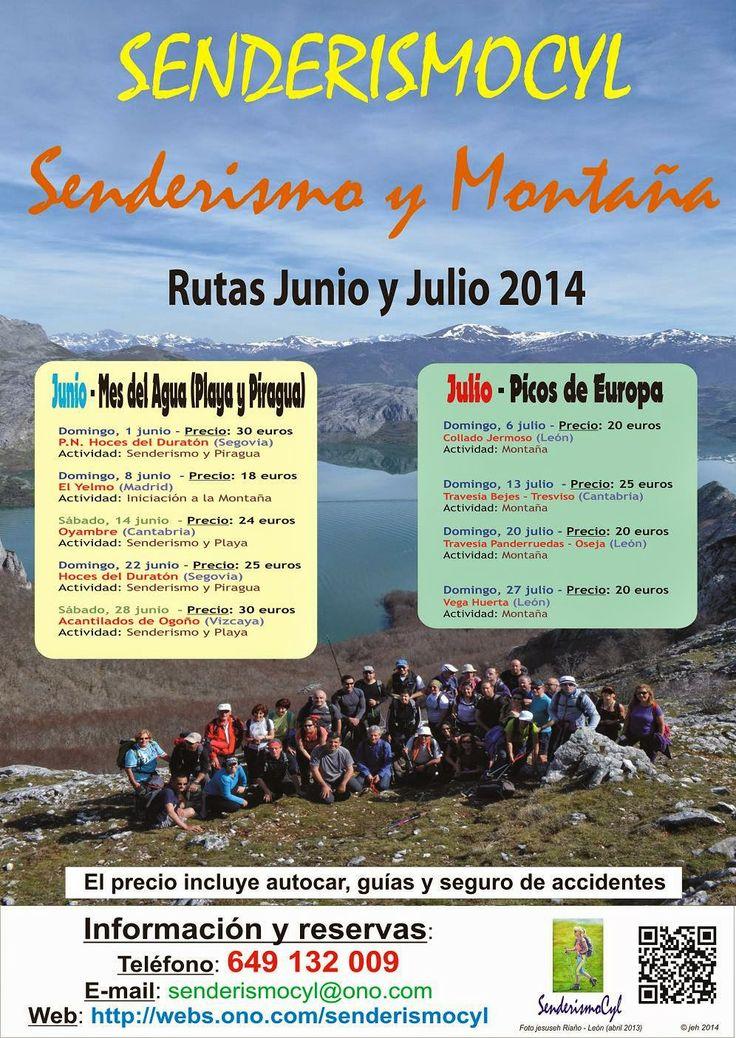 """Senderismo Valladolid Tfno: 649 132 009  """"Déjate llevar"""": Programa de Rutas: Junio y Julio 2014"""