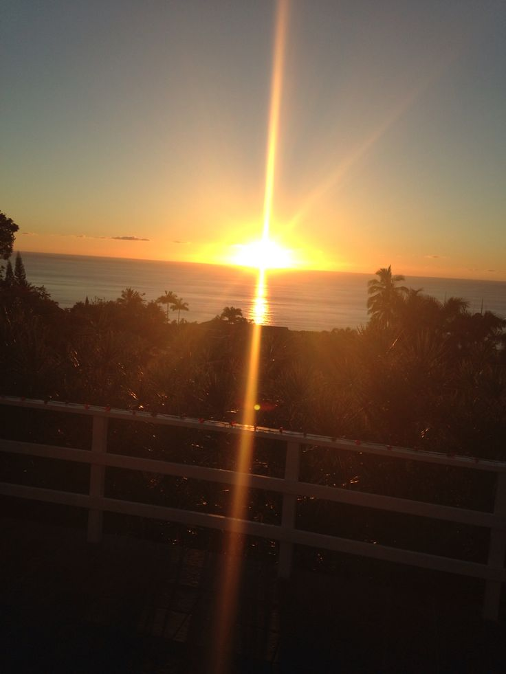 gorgeous sunset picture on christmas day taken from my friend's vacation home balcomy in kona, hawaii.
