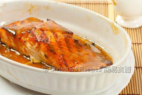 Grilled Miso Salmon - really great recipe!    Marinade:  1 Tbsp white miso paste  1 Tbsp mirin  2 tsp lemon juice  2 tsp light soy sauce  1 tsp freshly grated ginger sauce
