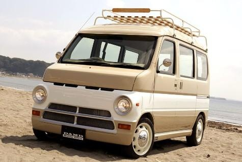 While some Japan owners have been modding them to look like VW microbuses of the 1960s, tuning shop DAMD has a different retro idea. The company is offering a styling kit 'dubbed Locoboy' that turns a Honda Vamos into a mid-60s Dodge A-100. Why can't we get these in the states... vans can be cool.