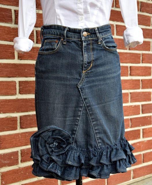 Helles Syskrin: To gamle bukser i ett skjørt