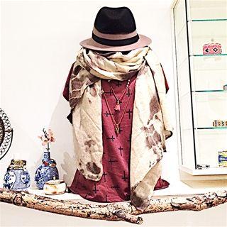 Lekkere warme print sjaal tiedye € 16,50